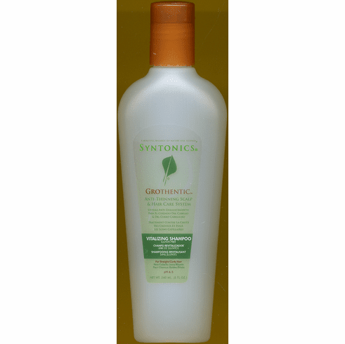 Syntonics:Grothentic Anti-Thinning  Vitalizing Shampoo  For Straight/Curly Hair 8oz