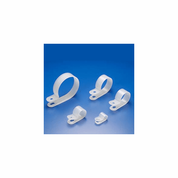 "1/2"" R-Type Clear Cable Clamp - 100 Pack"