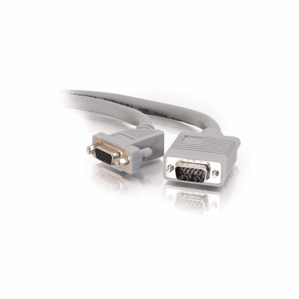 1 Foot Premium Shielded HD15 SXGA M/F Monitor Extension Cable with 45° Angled Female Connector
