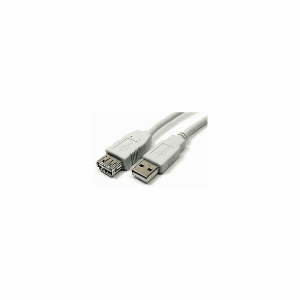 1 Foot USB 2.0 Type A Extension Cable - Ivory