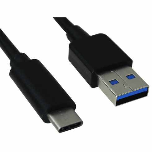 1 Foot USB 3.0 (USB 3.1 Gen 1) Type C Male to Type A Male Cable, 5Gbps, 2.4A