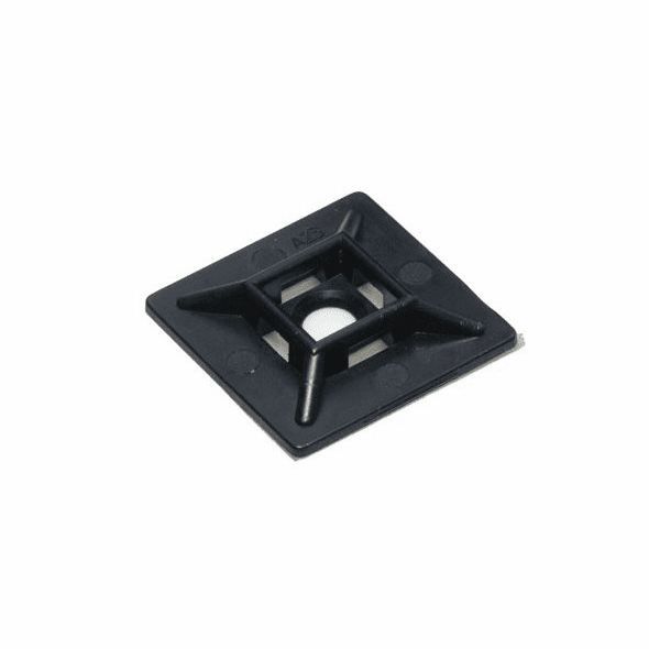 1 Inch Adhesive Cable Tie Mounting Pads - 25 Pack