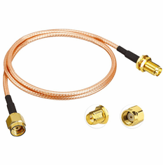 1 Meter (39.37 Inch) RP-SMA Male/Female RG316 Extension Cable