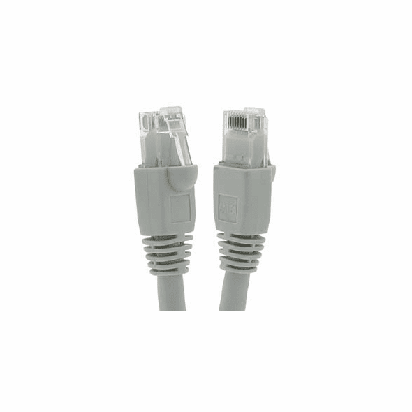 10 Foot Cat6A UTP Ethernet Network Booted Cable Gray - Ships from California