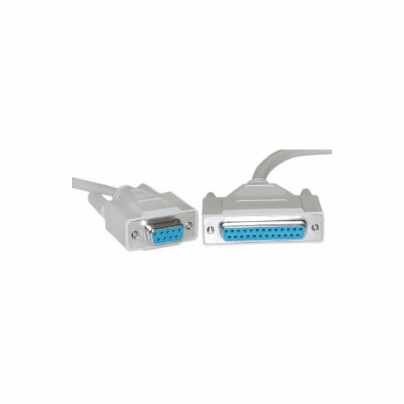 10 Foot DB9 Female / DB25 Female Null Modem Cable