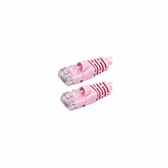 10 Foot Molded-Booted Cat5e Network Patch Cable - Pink