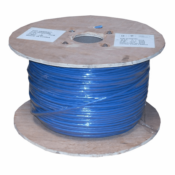 1000 Feet Cat 6 Stranded Wire Bulk Cable Shielded Blue, 26AWG CMH