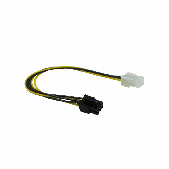 """12"""" 6 Pin PCI Express Male/Female Power Extension Cable"""