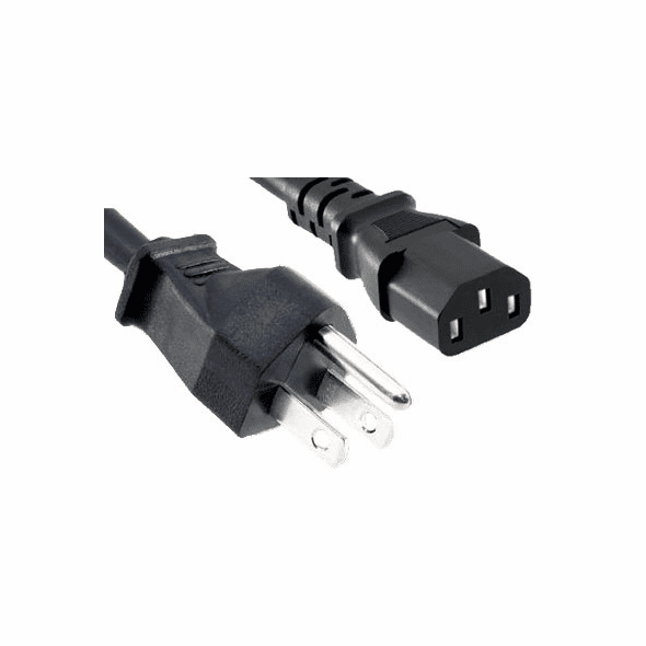 12 Foot 18 AWG UL Power Cord, IEC320 C13 to NEMA 5-15P