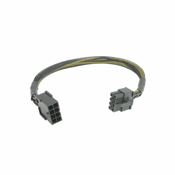 12 inch 8 pin PCI Express extension cable w/ black sleeving