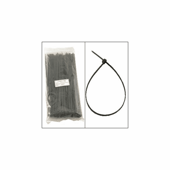 12 Inch Black Nylon Cable Ties - 100 Pack