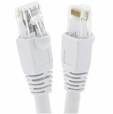 15 Foot Cat6A UTP Ethernet Network Booted Cable White - Ships from California