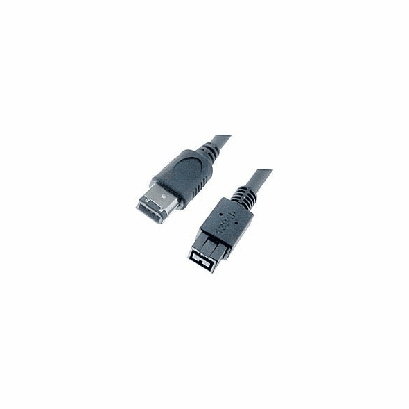 15 Foot IEEE 1394b 9 Pin to 6 Pin Firewire 800 Cable