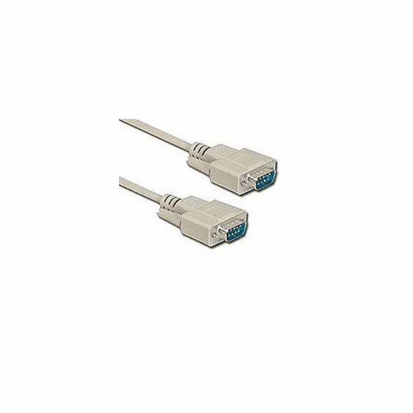 15 Foot Male / Male 9 Pin ( DB9 ) Serial Cable