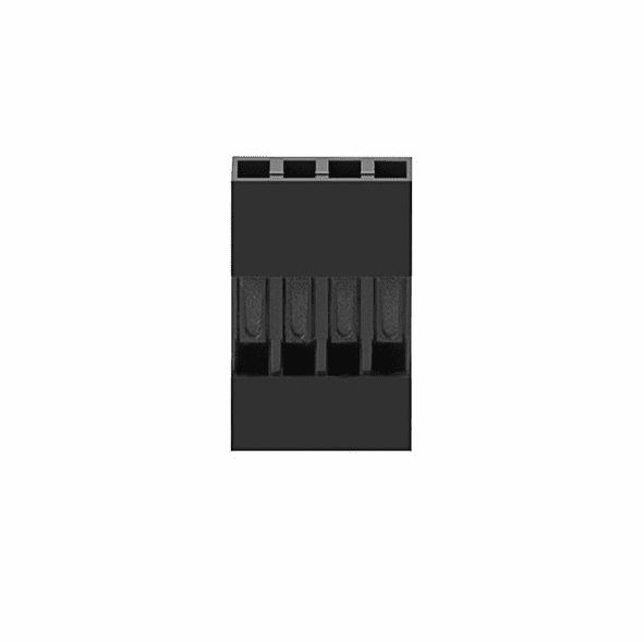 1x4P 2.54mm Pitch Dupont Connector Female Housing with Pins - 5 Pack