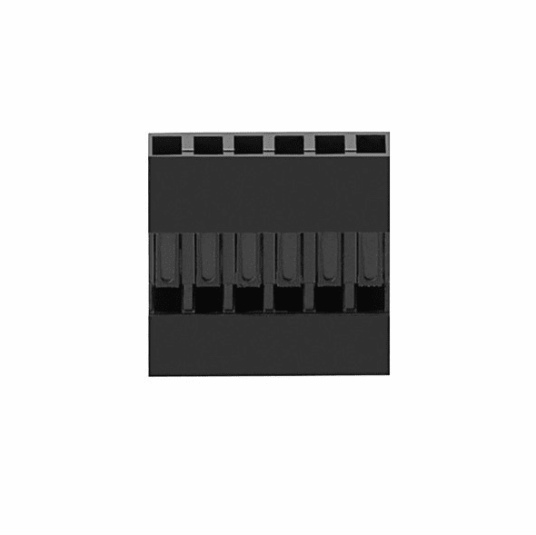 1x6P 2.54mm Pitch Dupont Connector Female Housing with Pins - 5 Pack
