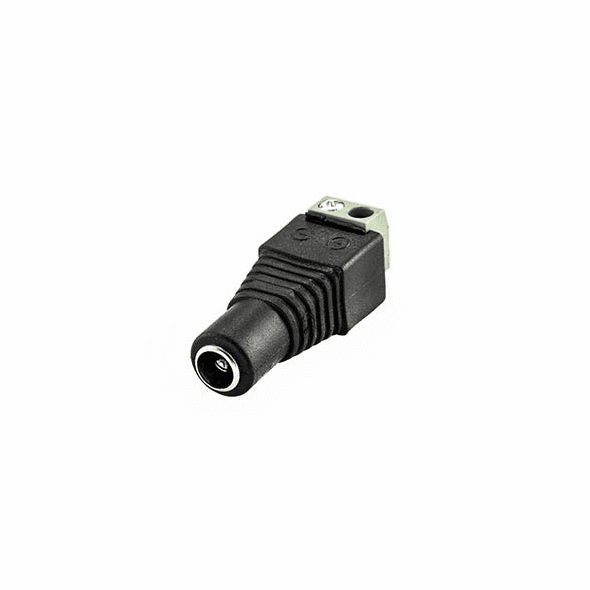 2.1mm Round Socket with Screw Terminals