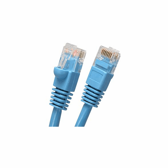 2.5 Foot (30 Inch) Molded-Booted Cat5e Network Patch Cable - Blue