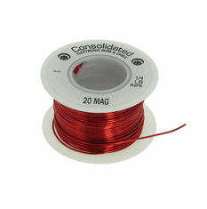 20 AWG Solid Enameled Bare Copper Magnet Wire - 1/4 lb Spool