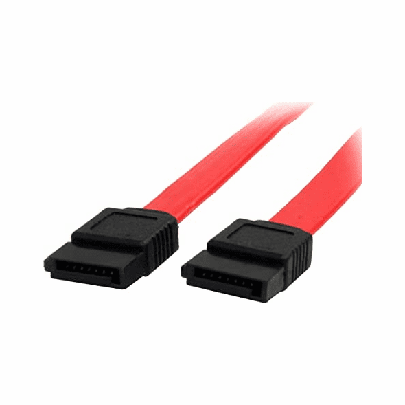20 Inch Red SATA Data Cable - No Clips