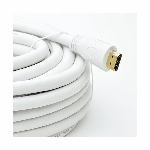 25 Foot HDMI High Speed, 24awg CL-2 (In-Wall Rated) Cable - White