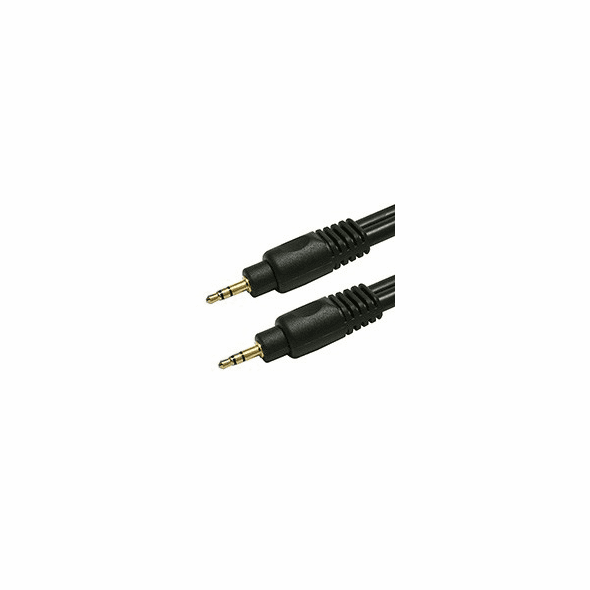 25 Foot Premium Shielded 22AWG 3.5mm Stereo Male / Male Gold Plated Audio Cable