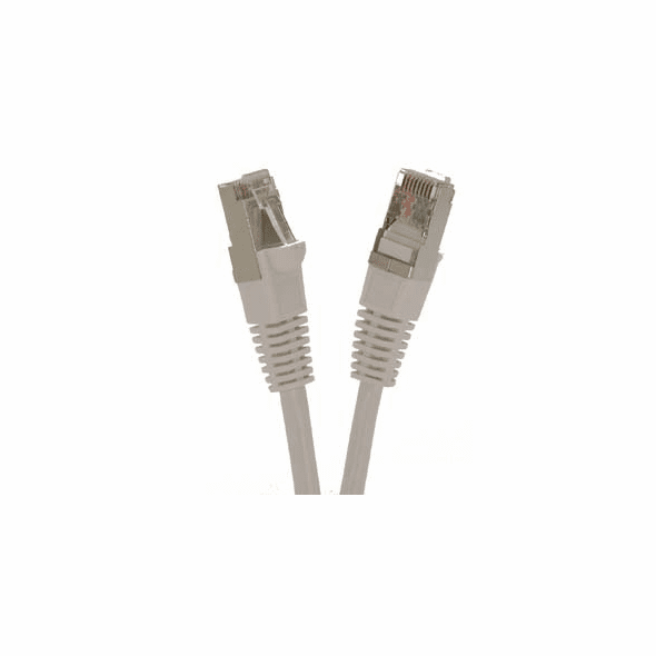 25 Foot White Cat6 600MHz Shielded (SSTP) Ethernet Network Cable - Ships from California