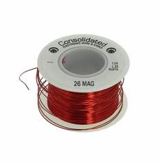 26 AWG Solid Enameled Bare Copper Magnet Wire - 1/4 lb Spool
