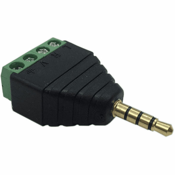 3.5mm Stereo 4 Conductor Male to Terminal Screws