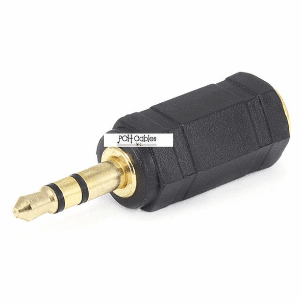 3.5mm Stereo Plug to 2.5mm Stereo Jack Adaptor - Gold Plated