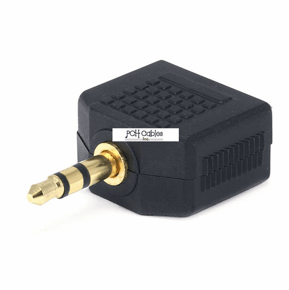 3.5mm Stereo Plug to 2 x 3.5mm Mono Jack Splitter Adaptor - Gold Plated