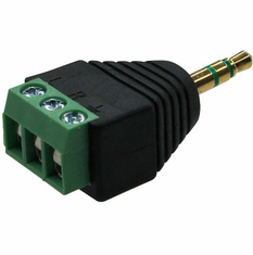 3.5mm TRS Plug to 3-Pin Terminal Adapter