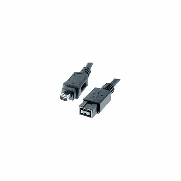 3 Foot IEEE 1394b 9 Pin to 4 Pin Firewire 800 Cable