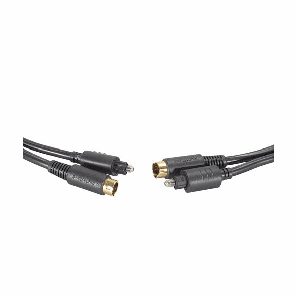 3 Foot Toslink Digital Optical Cable with S-Video Cable