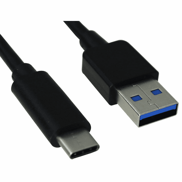 3 Foot USB 3 0 (USB 3 1 Gen 1) Type C Male to Type A Male Cable, 5Gbps, 2A