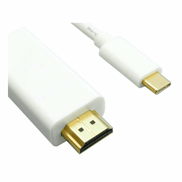 3 Foot USB Type C to HDMI Male Cable with 4K Support