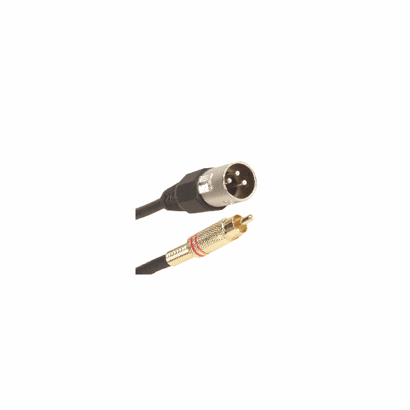 3 Foot XLR Male to RCA Male Cable