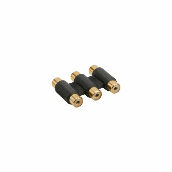 3 RCA Jack to 3 RCA Jack Adaptor - Gold Plated
