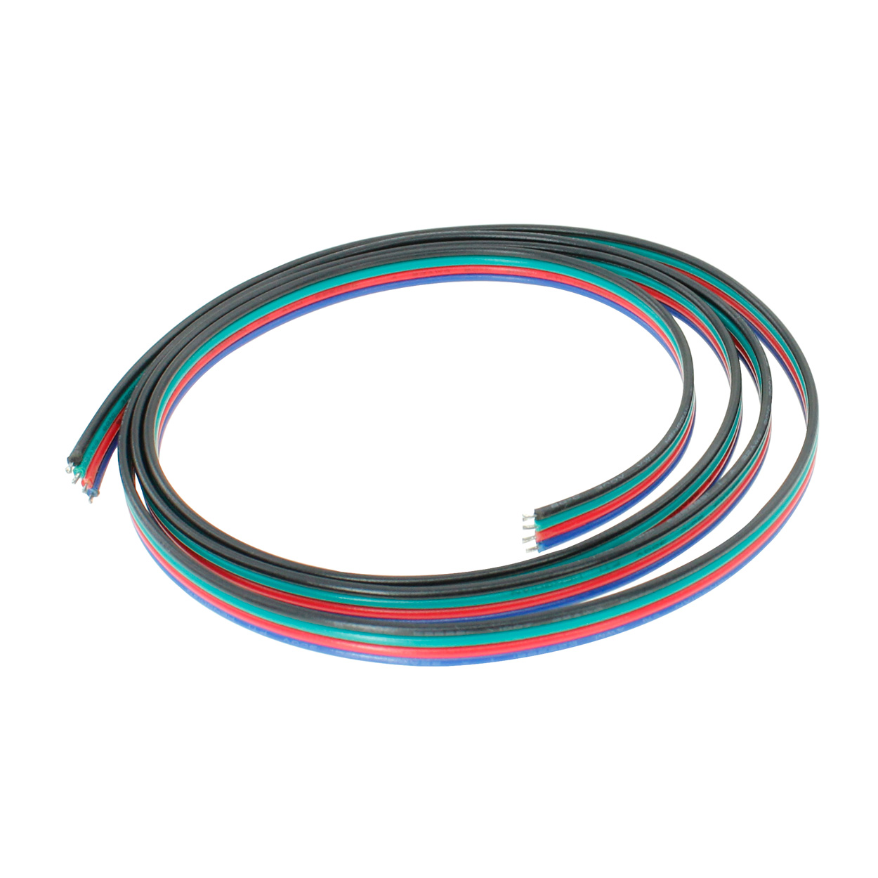 4 Wire 18awg Power Cable For Rgb Led Light Strips Per Foot Wiring