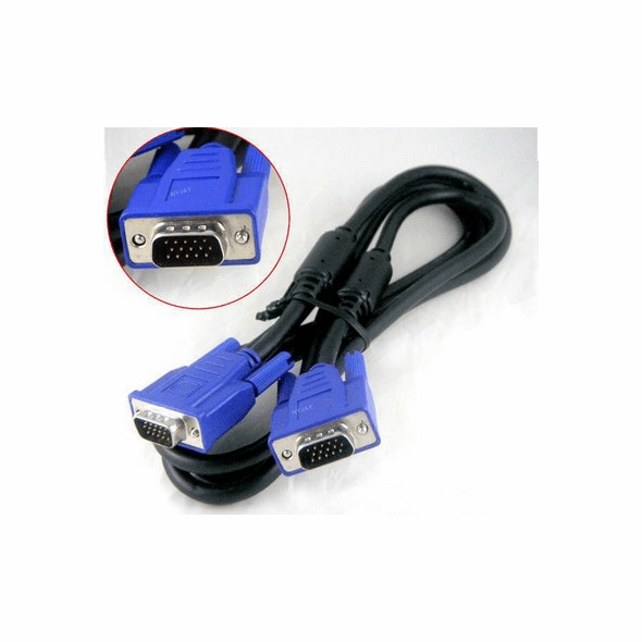 5 Foot Shielded Slim Male/Male VGA Cable with Ferrites