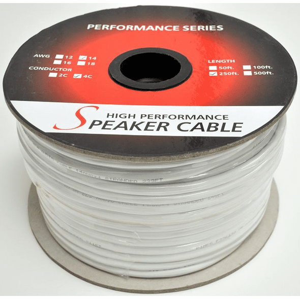 50 Foot, 16 awg, 2 Conductor CL-2 (In-Wall) CM Rated UL Speaker Wire