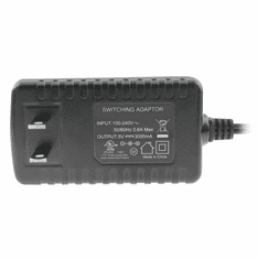 5V DC Power Adapter (3A Output, 100-240V AC Input, 2.1mm ID / 5.5mm OD) - Regulated
