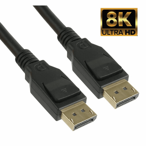 6 Foot DisplayPort v1.4 Male to Male Cable - 8K 60Hz