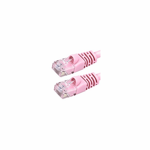 6 Inch Cat5e Molded Booted Network Cable - Pink