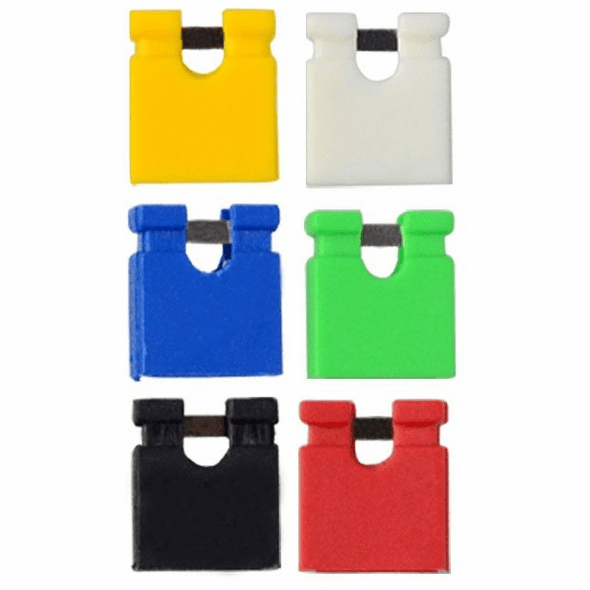 60 Pack of Colored 2.54mm Jumpers