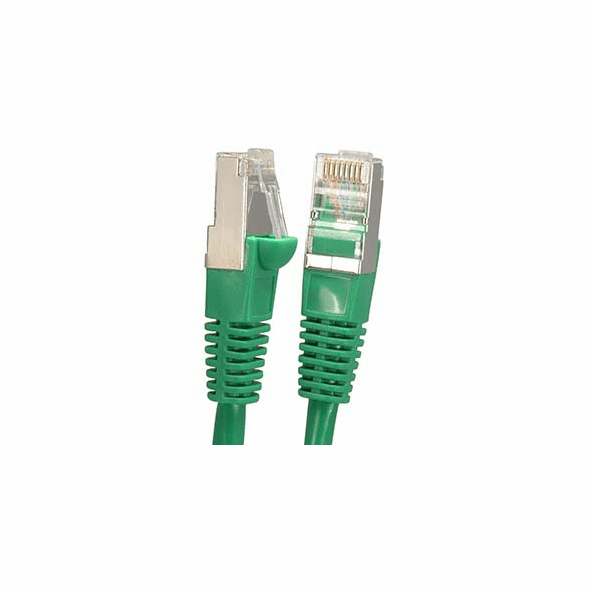 7 Foot Green Cat6 600MHz Shielded (SSTP) Ethernet Network Cable - Ships from California