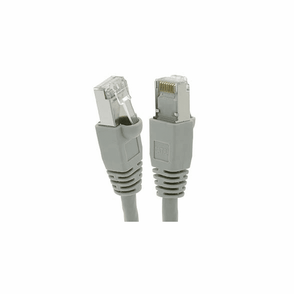 75 Foot Cat6A Shielded (SSTP) Ethernet Network Booted Cable Gray - Ships from California