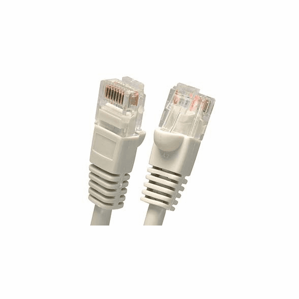 8 Foot Molded-Booted Cat5e Network Patch Cable - Gray