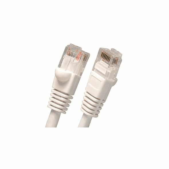 8 Foot Molded-Booted Cat5e Network Patch Cable - White