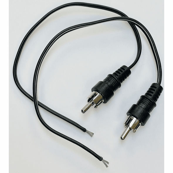8 Inch RCA to Tinned Wire (2 Pack)